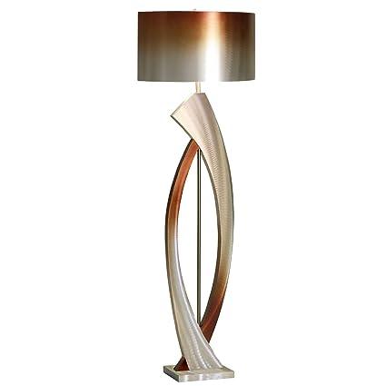Unique modern lighting Dining Room Image Unavailable Amazoncom Nova Of California Jfl4810 Swerve Metal Floor Lamp Silver Bronze
