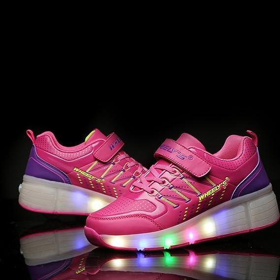 KIPTOP Zapatillas con Ruedas Deportivas Deportivas Carrefour para niños con 6 Colores LED Parpadeante Colorido para Niños/Niñas: Amazon.es: Deportes y aire libre