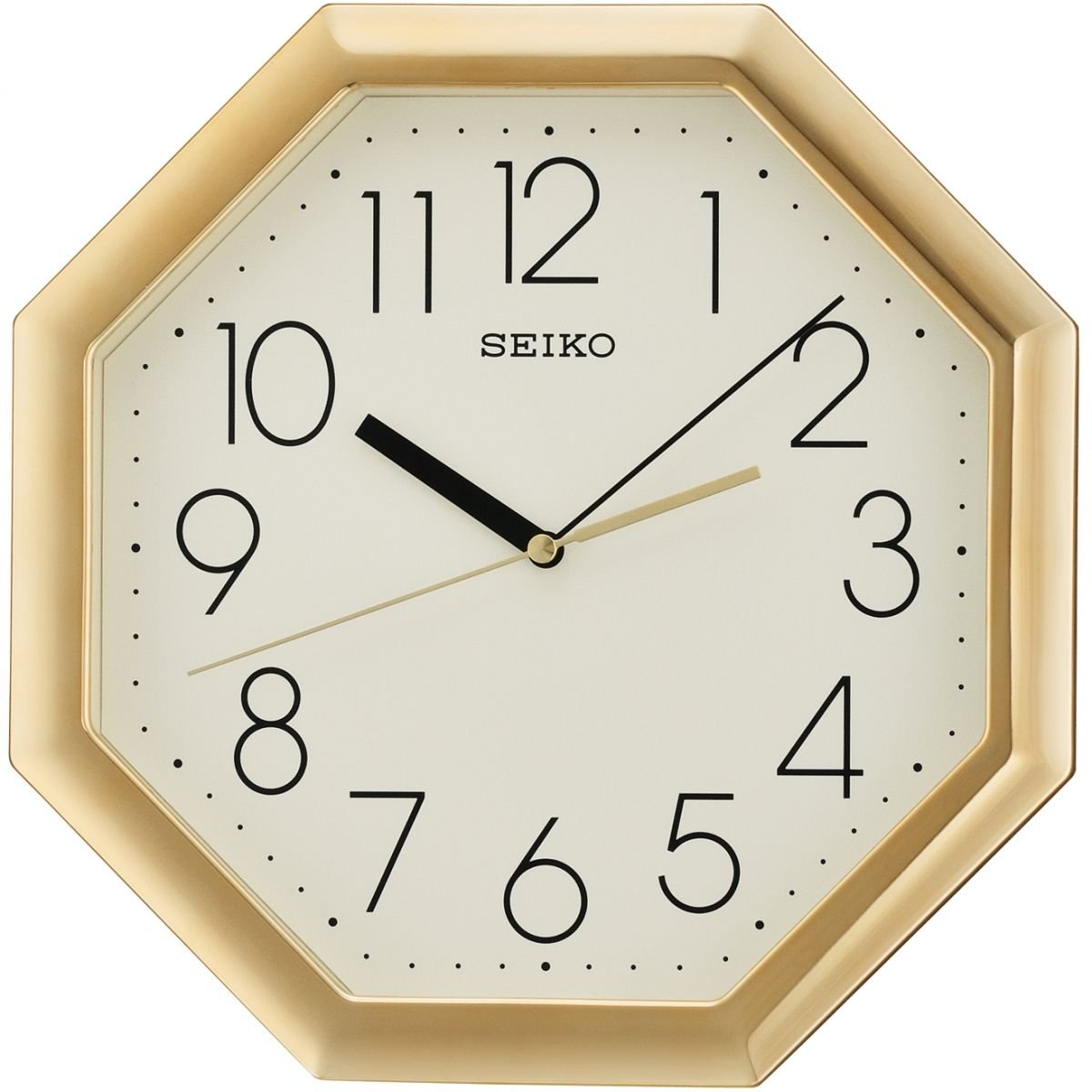 Seiko Octagon Wall Clock - Gold