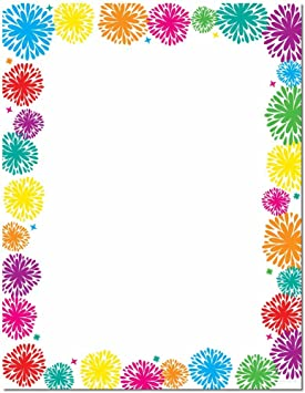 Fanciful Fireworks Letterhead Laser /& Inkjet Printer Paper 100 pack