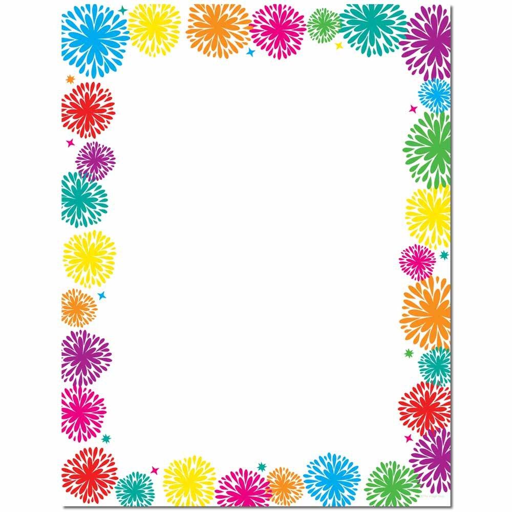 Fanciful Fireworks Letterhead Laser & Inkjet Printer Paper, 100 pack