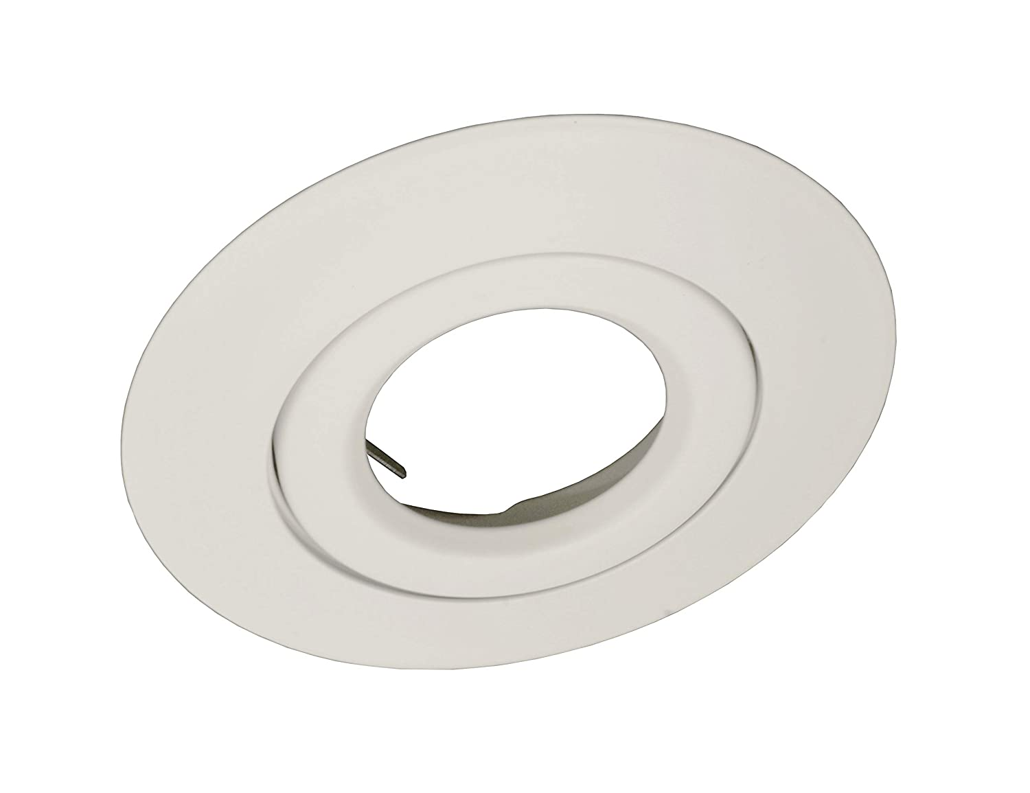 White NICOR Lighting 6-Inch Non-IC Rated Gimbal Ring Lighting Trims for 17000 and 17001R 17558WH
