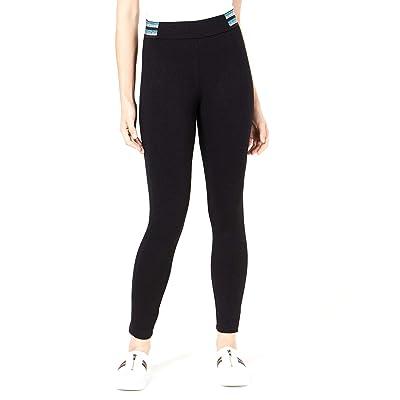 Bar III | Metallic-Stripe Varsity Leggings | Deep Black at Amazon Women's Clothing store