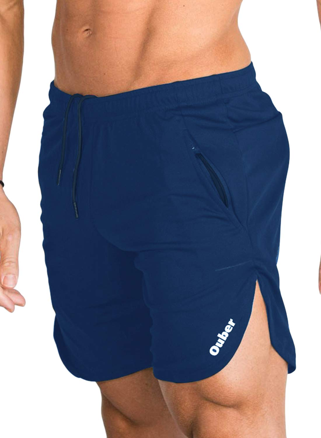 Ouber Men's Running Shorts Athletic Workout Gym
