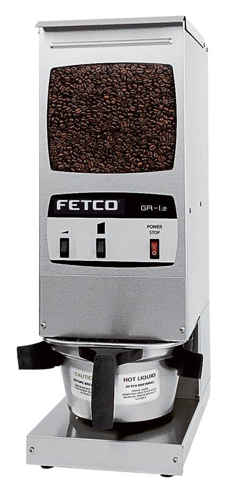 Fetco GR-1.2 Hopper Grinder, Single 15 lb. Capacity Hopper, Stainless Steel