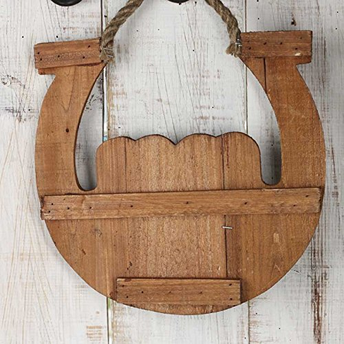"Factory Direct Craft Hanging Wooden "" I Want to Grow Up to Be A Cowboy"" Horseshoe Sign for Little Boys Room or Western Decor"