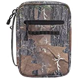 Camouflage 7.2 x 10 inch Denier Polyester Fabric Bible Cover Case with Handle