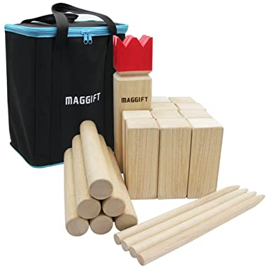 Maggift Kubb Game Set Backyard Game Set Outdoor Game with Carrying Bag