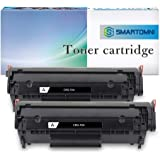 S SMARTOMNI Compatible Toner Cartridge for Canon FX-10 FX-9 104 HP 12A Q2612A (2-Pack), use with Canon ImageClass D450 D420 D480 MF4270 MF 4350d HP Laserjet 1020 1022 1022n 3015 1012 1010 1015 Printer