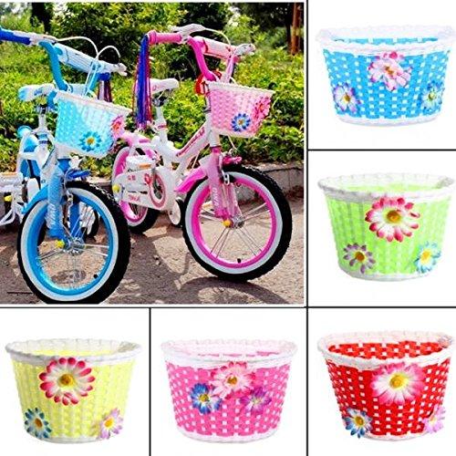 Bicycle Bike Front Basket Decoration For Children Color Pnk