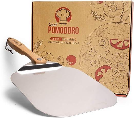 "Aluminium Pizza Peel 12 x 14/"" Spatula Pastry Dough Paddle Oven Bread Wood Handle"