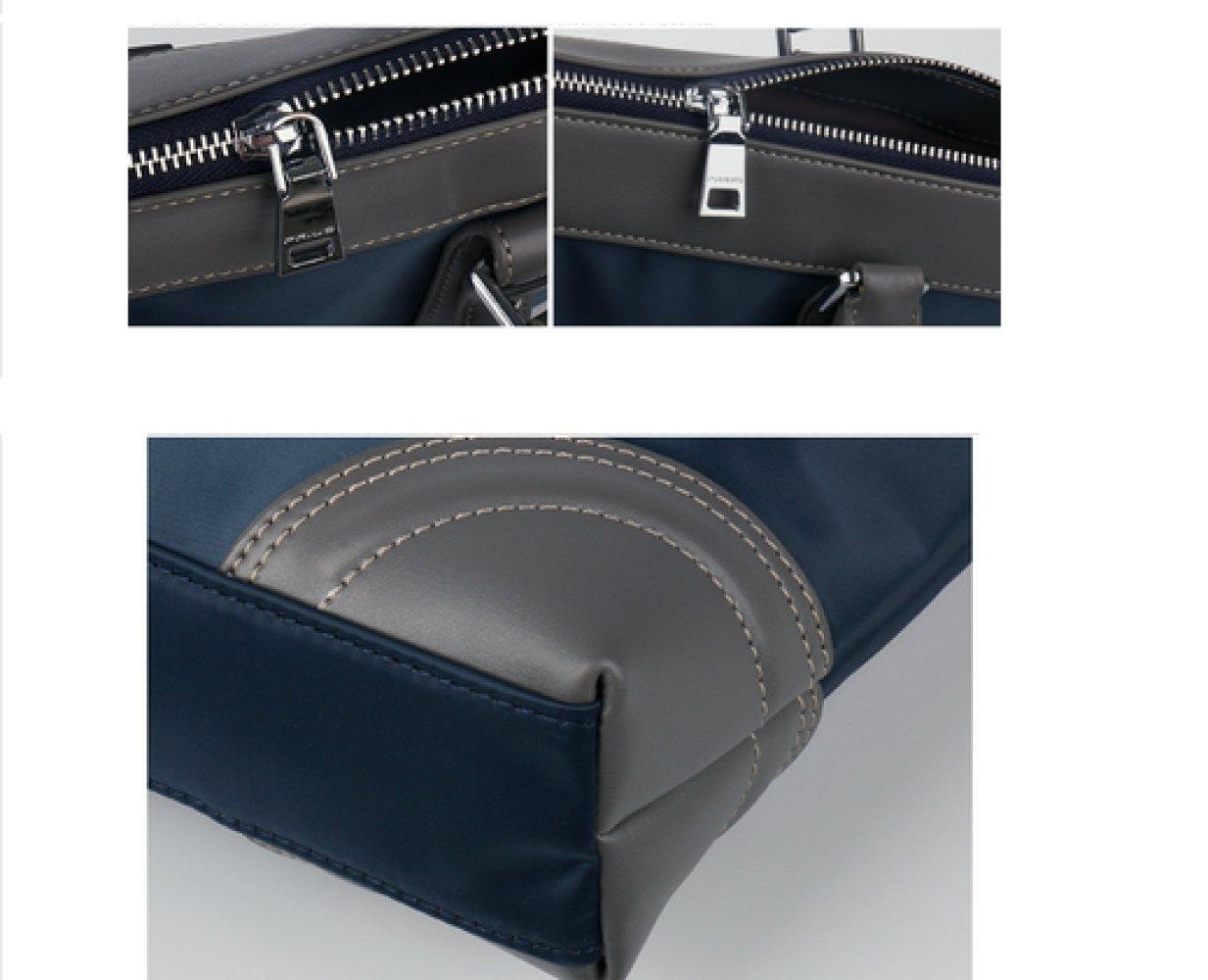 British Style Casual Men's Bag Waterproof Oxford Cloth Handbag Briefcase Shoulder Messenger Bag,Black-L by NUGJHJT (Image #7)