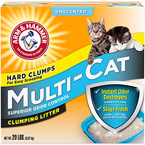 Arm & Hammer Multi-Cat Litter, Unscented, 20 Lbs (Packaging May Vary) Hammer Multi Cat Litter