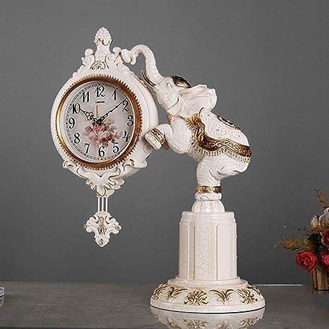 Amazon.com: Family Fireplace Clocks Desktop Watch Tablecloth Clocks Living Room Retro Resin Watch Mute Clock Bedside Clock Decoration ó n Clock P é Pendulum ...