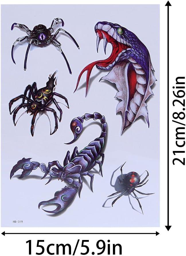 Cold Toy 10pcs Escorpión grandes temporales tatuaje de calavera de ...