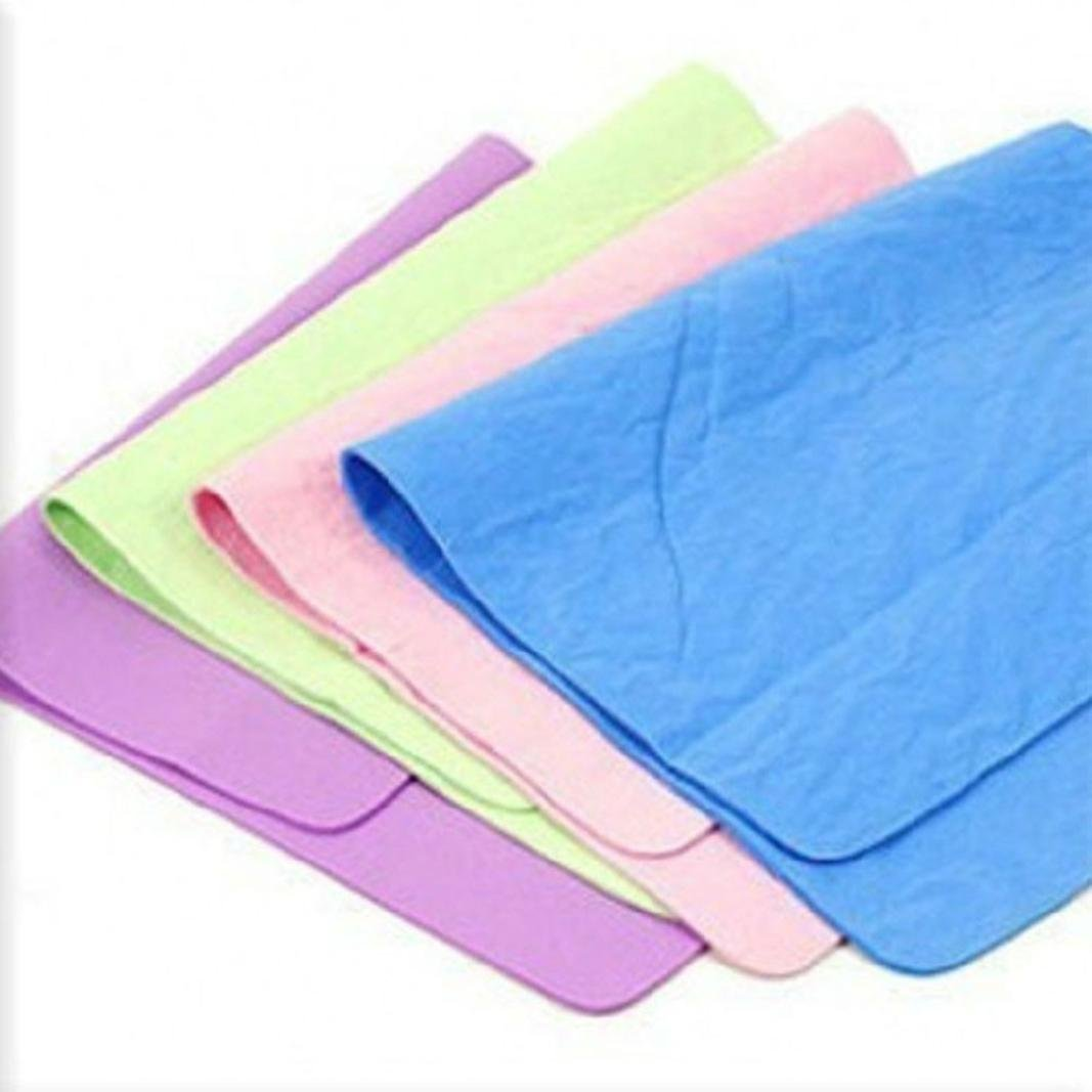 Loneflash Blue Soft Absorbent Wash Cloth Car Auto Care Microfiber Cleaning Towels (2 Pcs)