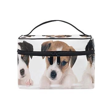 6ca9e2e75536 Amazon.com : Makeup Train Cases Three Parson Russell Puppies Travel ...