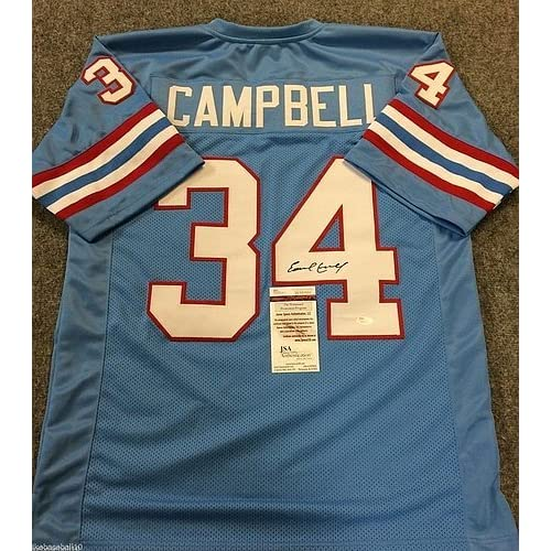 online retailer 59a6f 7a05d Earl Campbell Signed Houston Oilers Jersey JSA Coa ...