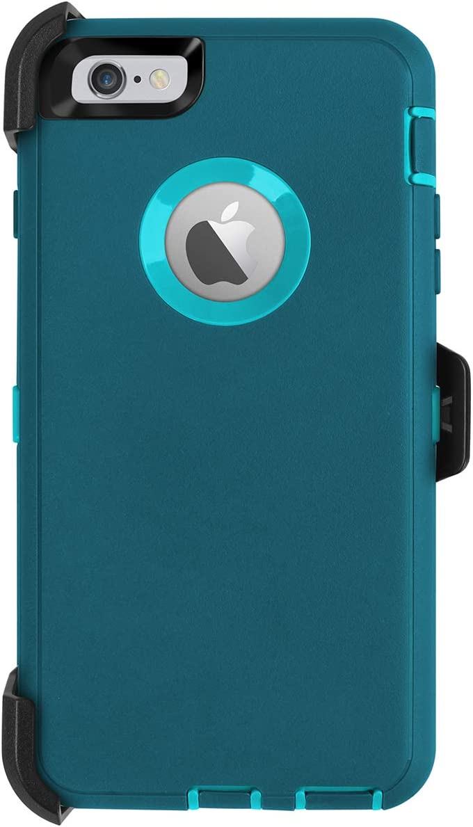 AICase iPhone 6 Plus Case,iPhone 6S Plus Case,[Heavy Duty] [Full Body] Built-in Screen Protector Tough 4 in 1 Rugged Shockproof Cover for Apple iPhone 6 Plus / 6S Plus (Blue with Belt Clip)