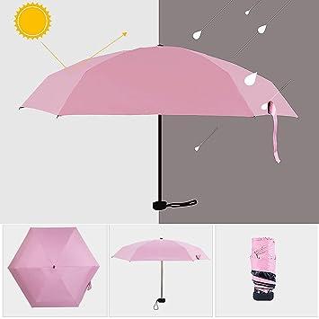 Paraguas para el sol, 5 paraguas de viaje plegables para resistente al viento, a