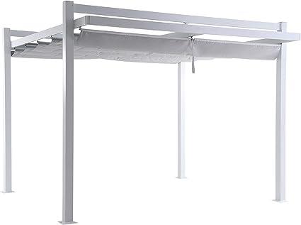 LC Garden Pergola - Parasol (350 x 350 x 260 cm, Aluminio ...