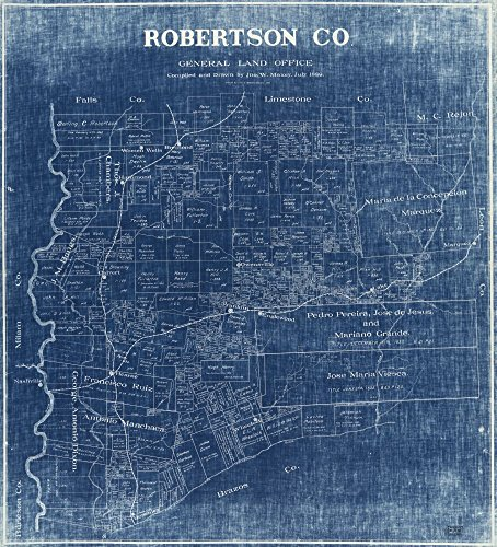 Map: 1889|1919 Robertson Co. Traced by Jno. C. Newton, January 1919|Cadastral Landowners|Real Property|Robertson County|Robertson - Country Locator Style Store