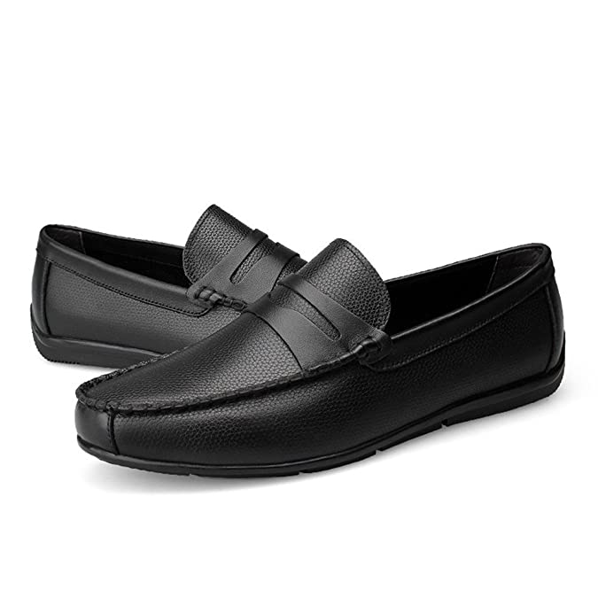 Amazon.com   Mens Driving Loafers Strap Decor Slip-on Leisure Penny Moccasins Soft Rubber Sole   Loafers & Slip-Ons
