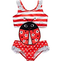 kavkas Baby/Toddler Girl Swimwear One Piece Suits Rash Guard Swimsuits Bathing Suit(12M-8T)