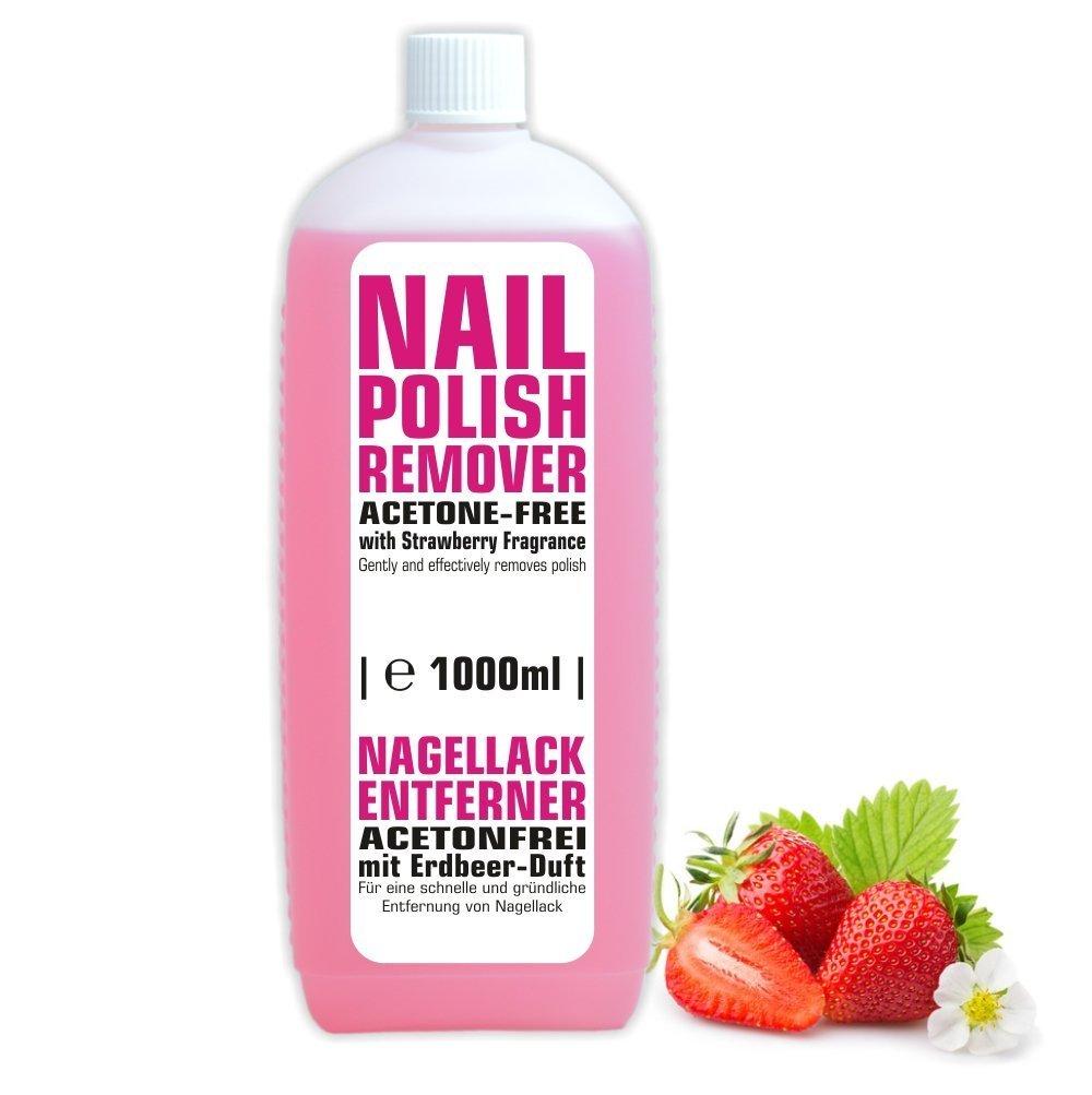 1litro de limpiador de esmalte de uñas sin acetona con aroma de fresa NAILFUN ®