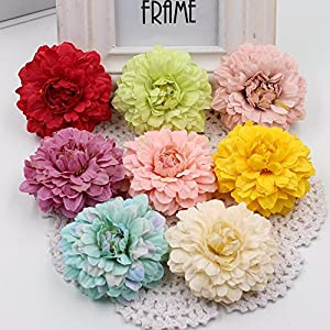 Artificial Flower Heads in Bulk Wholesale for Crafts Artificial Silk Wedding Floral Decoration Marigold DIY Party Festival Decor Home Decorations Crafts Fake Flowers 15PCS/lot 6cm 45