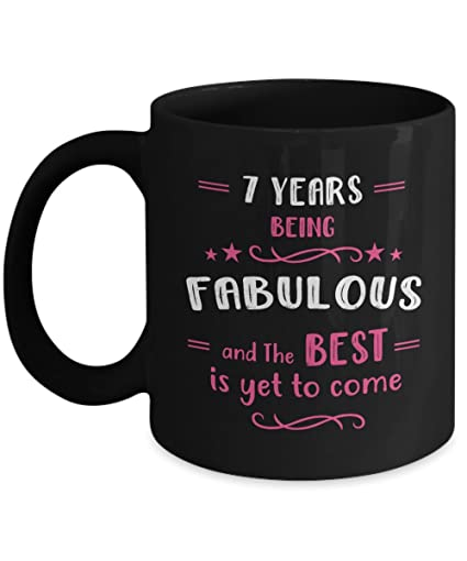 Amazon Happy 7th Birthday Mug