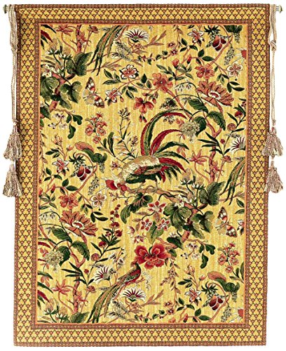 Corona Decor Exotic Birds European Tapestry Wall Hanging by Corona Decor Co.