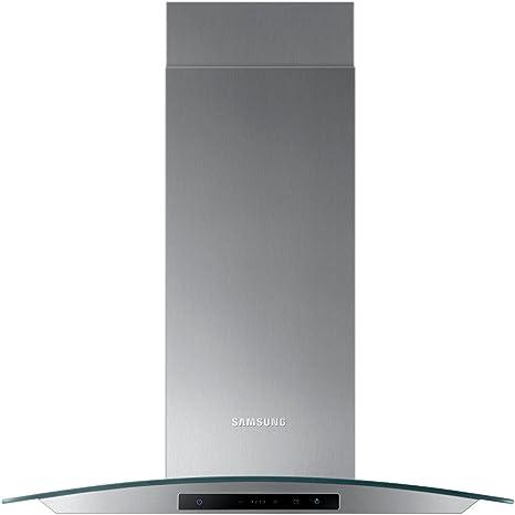 Samsung nk24 m5070cs 60 cm, cristal), diseño curvado chimenea campana – Acero inoxidable: Amazon.es: Hogar