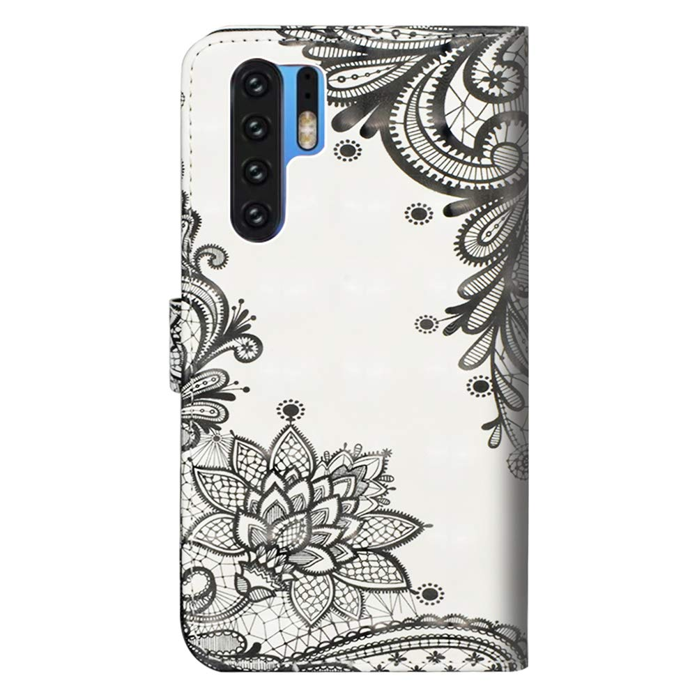 HMTECHUS Huawei P30 Pro case Luxury Bookstyle Clear View Window Electroplate Plating Stand Scratchproof Full Body Protective Flip Folio Ultra Slim Cover for Huawei P30 Pro PU Mirror:Blue MX