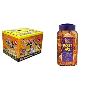 Utz Snack Variety Pack (Pack of 42) Individual Snacks, Includes Potato Chips, Cheese Curls & Party Mix - 26 Ounce Barrel - Tasty Snack Mix Includes Corn Tortillas, Nacho Tortillas, Pretzels