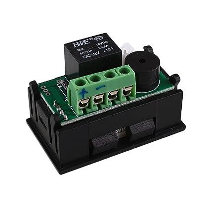 Tiptiper Controlador de temperatura digital, controlador de temperatura de relé de termostato digital inteligente 12V