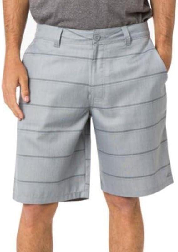 Grey Stripe flynn ONeill Mens Plaid Shorts
