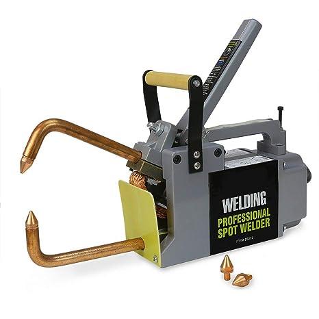 Stark Professional Electric 240 Volt Portable Spot Welder Machine Welding on homemade titanium, homemade saw, homemade plastic, homemade storage,