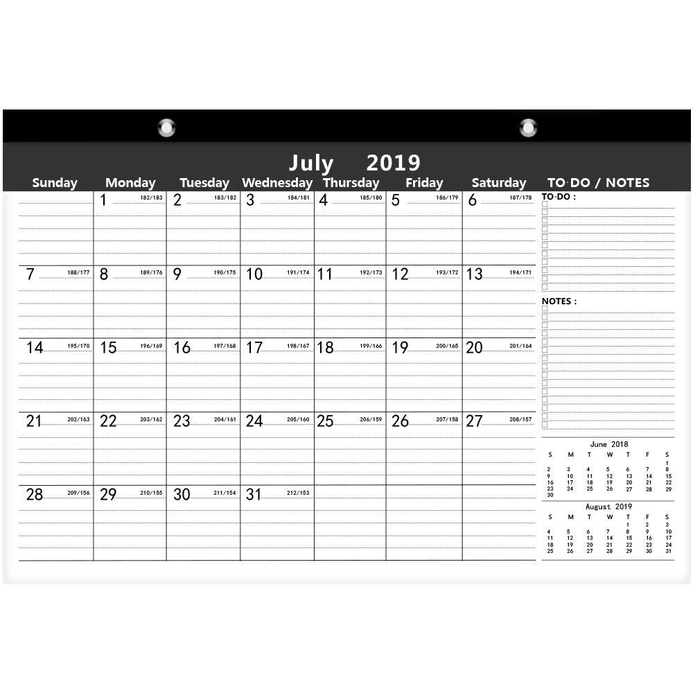 Ankuka Home planner calendario con design colorato per calendario da parete 2019 casa Daily planner accademico calendario planner per scuola 42 x 30 cm ufficio