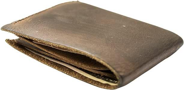 Rustic Leather Slimfold Wallet Handmade by Hide & Drink :: Bourbon Brown