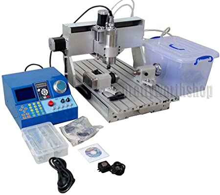 Sunwin Cnc 3040 Router Milling Engraving Machine Wood Metal Carving4th Axis 50mm Chuck