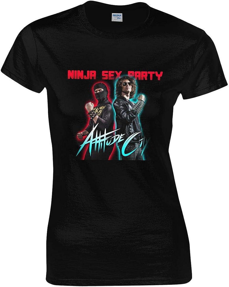 Ninja Sex Party T Shirt Woman Novelty Short Sleeves Round Neck Shirts