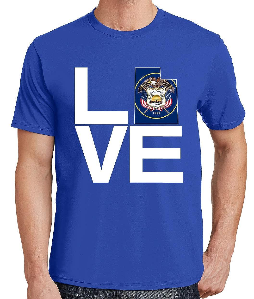 Tenacitee Mens Love Utah T-Shirt