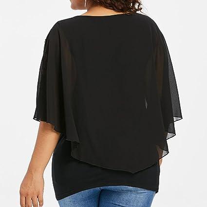 Top Suelto Mujer, Covermason Camiseta Larga Estampada Floral para Mujer Blusas Manga Corta para Mujer: Amazon.es: Ropa y accesorios