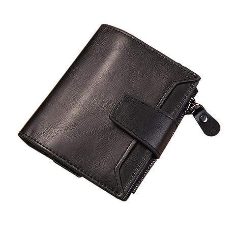 Amazon.com: Men Leather Wallet RFID Blocking