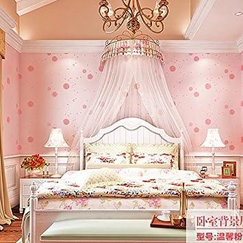 SBWYLT Fond Du0027écran Non Tissé Rural Pissenlit Wallpaper Chaud Chambre Salon Rose  Filles