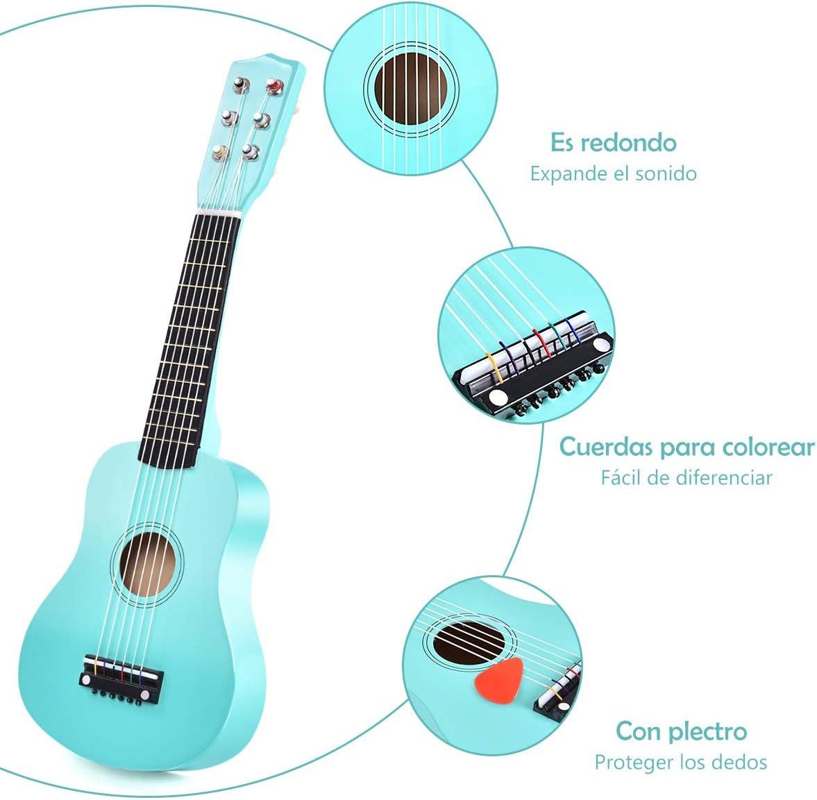 COSTWAY Guitarra para Niños Clásica Acústica 21