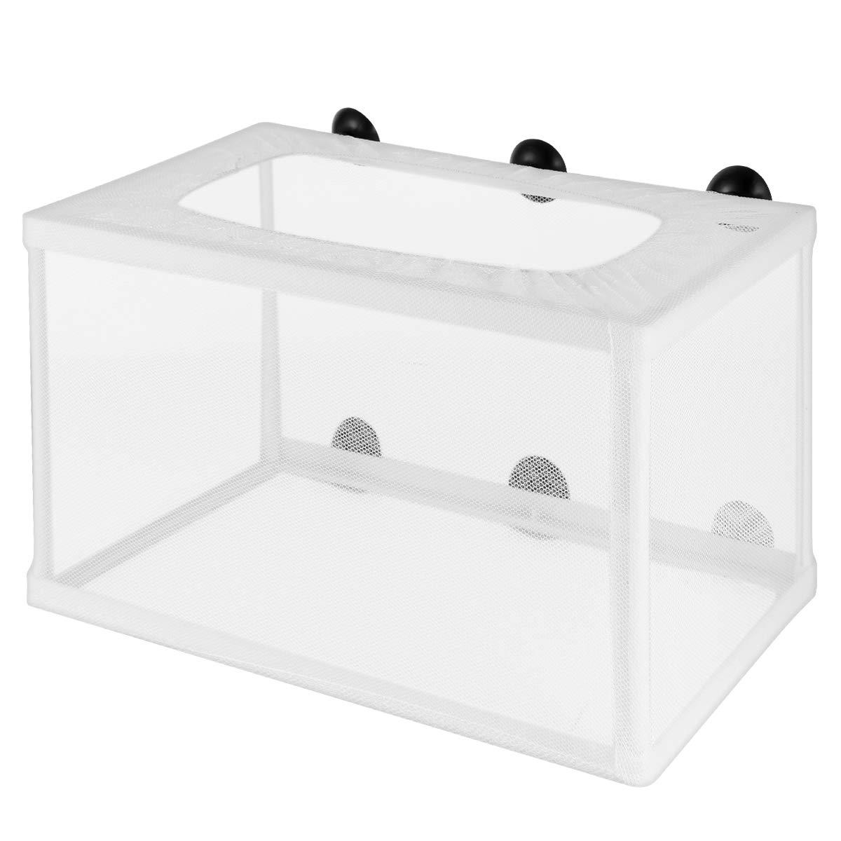 POPETPOP Fish Tank Breeder Net – Big Size Fish Hatchery Breeder Box Separation Net – Fry Hatchery Incubator Mesh with…