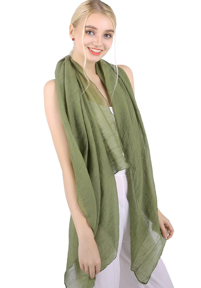 MissShorthair Womens Long Scarf in Solid Color Large Sheer Shawl Wraps for Evening BL2015Solid20