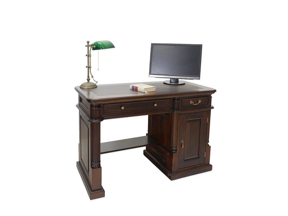 Schmaler Schreibtisch Massivholz Nussbaum B 120 Cm Günstig Bestellen